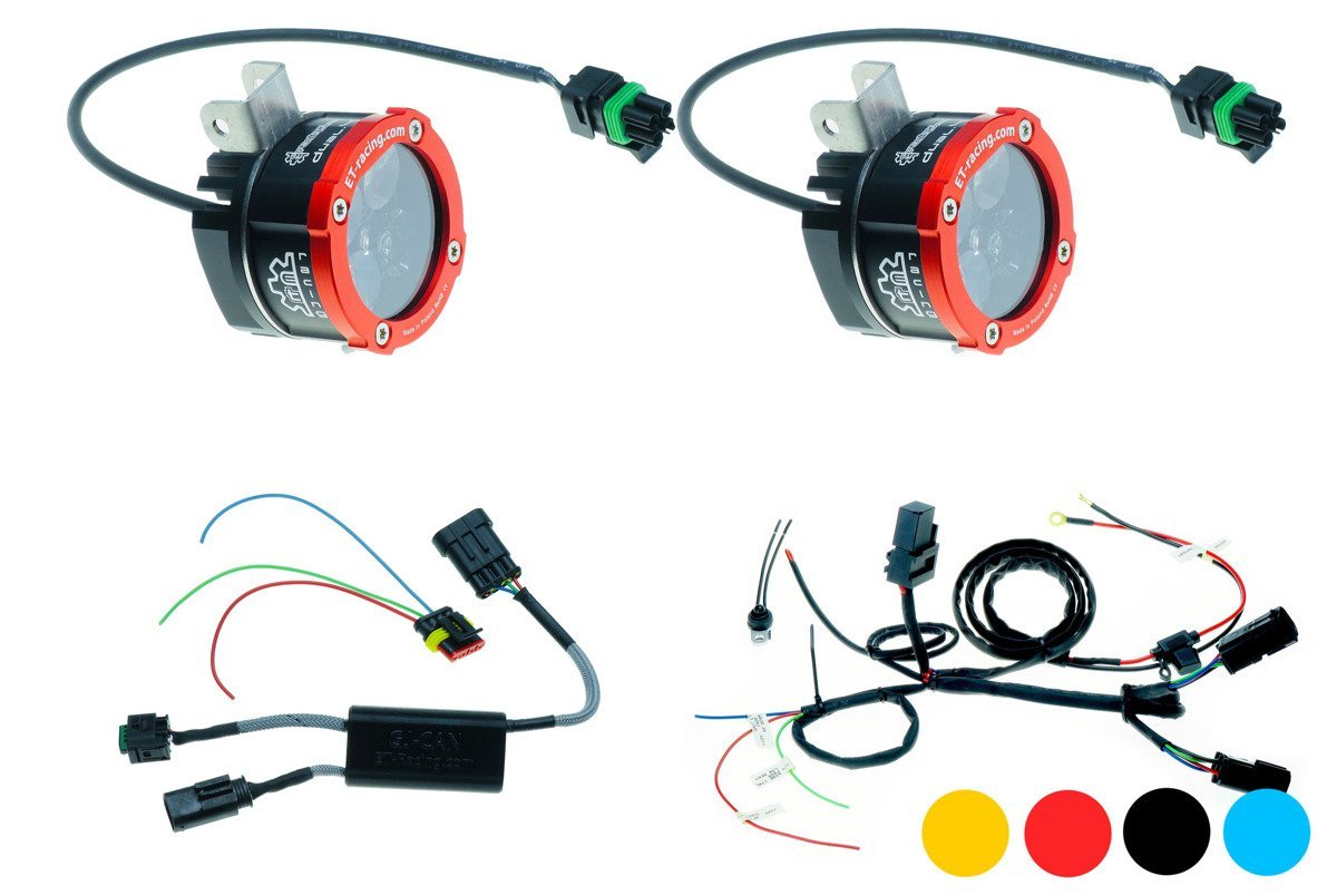 Zestaw 2x Lampa Led Dual.4 z mocowaniem w miejsce oryginalnych halogenów BMW + Sterownik GJ-CAN dla BMW